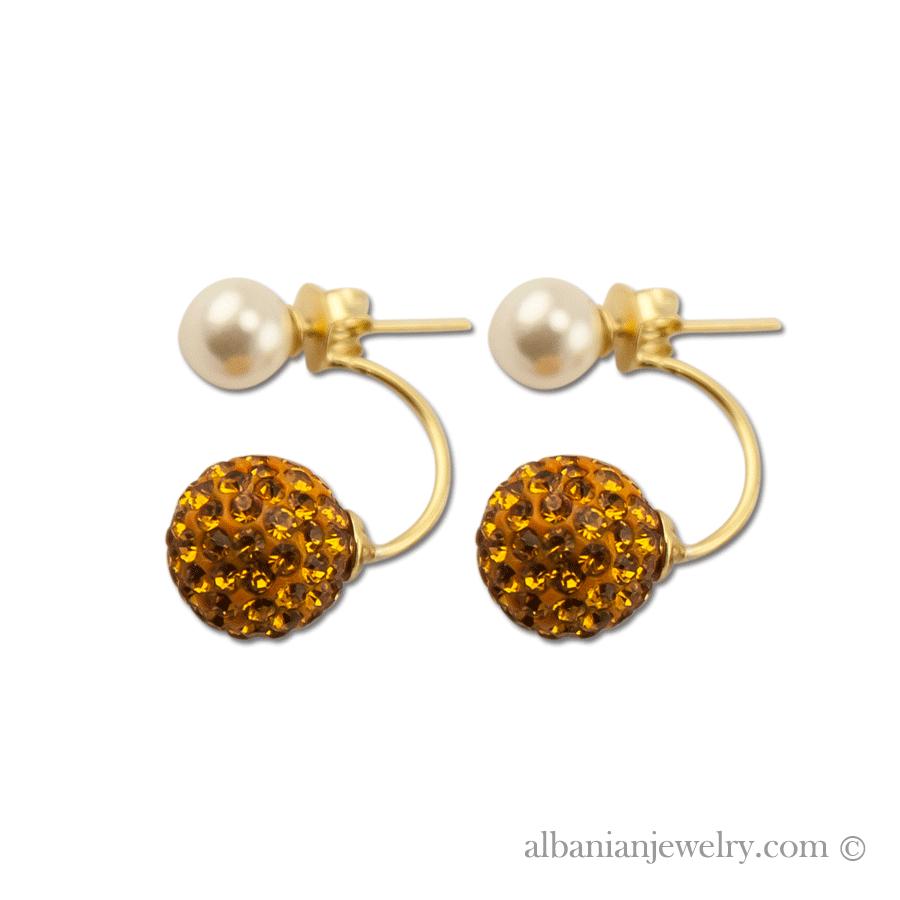 boucles d oreilles double perle argent avec perle blanche. Black Bedroom Furniture Sets. Home Design Ideas