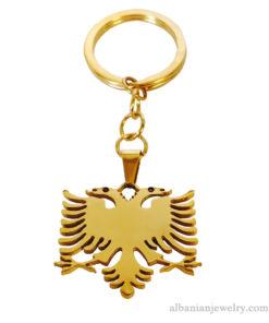 Albanian eagle keychain
