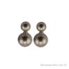 Double silver pearl earrings