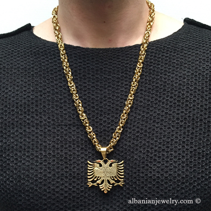 Eagle necklace byzantine chain albanian jewlery eagle necklace byzantine chain aloadofball Gallery
