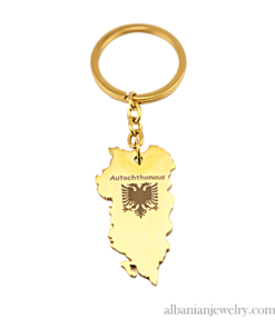 Autochthonous gold keychain