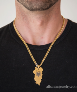 albanian eagle gold necklace