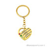 Gold plated Carved heart up to 5 names Keychain