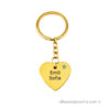 Gold-plated Personal Heart with Swarovski Stone Keychain
