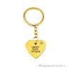 Gold-plated Personal Heart with Swarovski Stone Keychain
