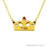 18 karat gold plated royal necklace