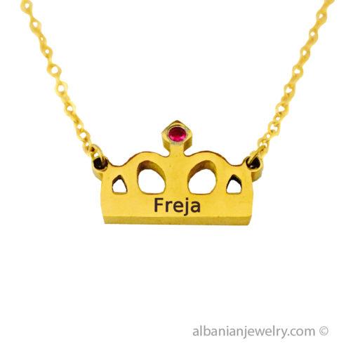 18 karat gold plated royal necklace