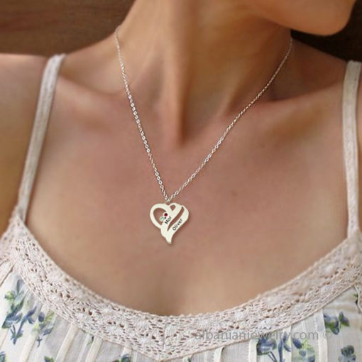Heart necklace in silver
