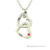 """Double Heart"" necklace in silver"