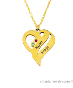 18 karat gold plated heart necklace