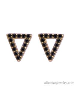 trekant ørresikker med sort zirkoner