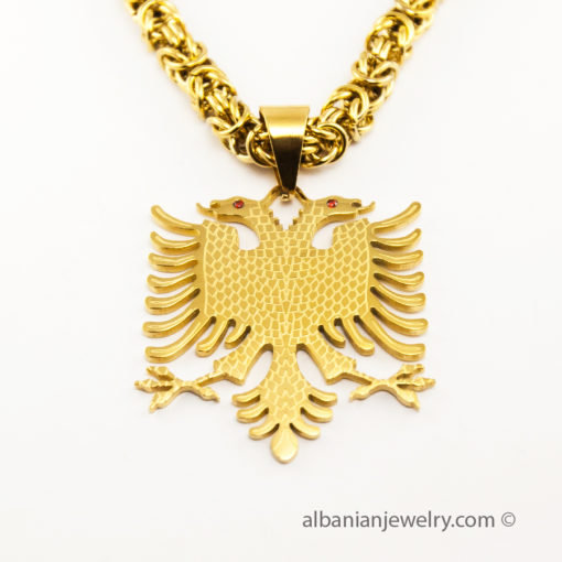 Eagle necklace byzantine chain