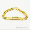 Bracelet with personalized engraving