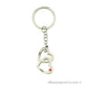 Engraved Vertical heart-to-heart keychain