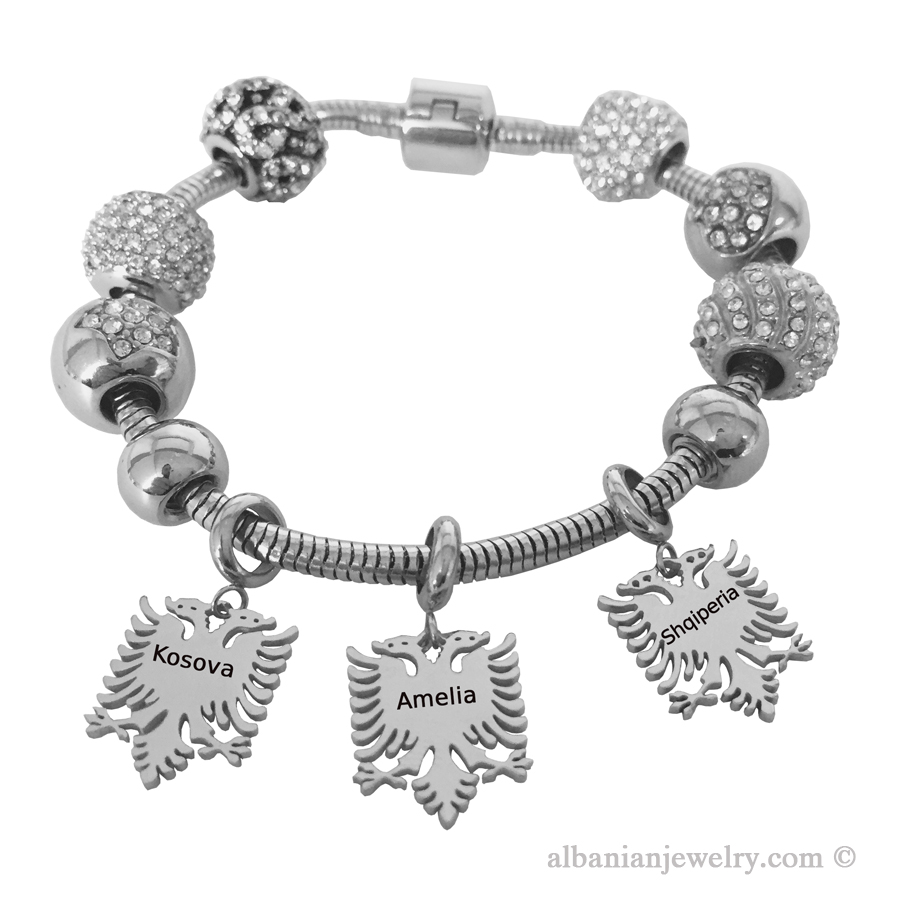 Bracelet with personalized engraving for woman