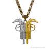 Albansk örn halsband - Pistol formade halv silver halv guld