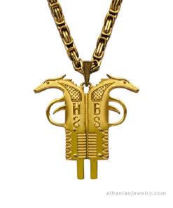 albanian jewelry, albanian eagle necklace, albanische adler kette, albanische schmuck